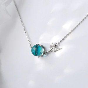 *NEW 925 Sterling Silver Crystal Mermaid Bracelet